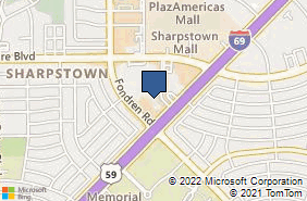 Bing Map of 7322 Southwest Fwy # 1-1888 Houston, TX 77074