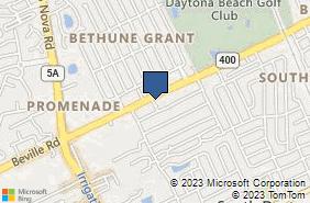 Bing Map of 735 Beville Rd South Daytona, FL 32119