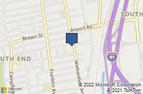 Bing Map of 737 Wethersfield Ave Hartford, CT 06114