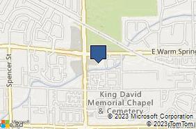 Bing Map of 7380 S Eastern Ave Ste 123 Las Vegas, NV 89123