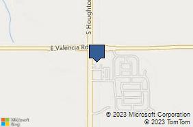 Bing Map of 7385 S Houghton Rd Ste 125 Tucson, AZ 85747