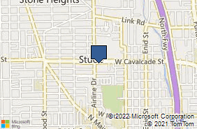 Bing Map of 739 W Cavalcade St Houston, TX 77009