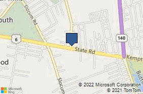Bing Map of 74 State Rd North Dartmouth, MA 02747
