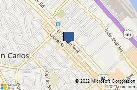 Bing Map of 742 El Camino Real San Carlos, CA 94070