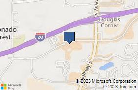 Bing Map of 7421 Douglas Blvd Ste B Douglasville, GA 30135