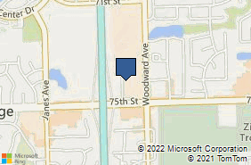 Bing Map of 7440 Woodward Ave Ste H Woodridge, IL 60517