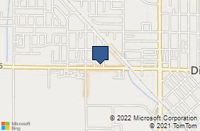 Bing Map of 747 W El Monte Way Dinuba, CA 93618