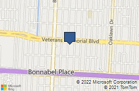 Bing Map of 749 Aurora Ave Ste 2 Metairie, LA 70005