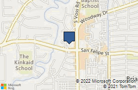 Bing Map of 7500 San Felipe St Ste 480 Houston, TX 77063