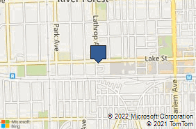 Bing Map of 7577 Lake St River Forest, IL 60305