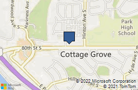 Bing Map of 7584 80th St S Ste 102 Cottage Grove, MN 55016