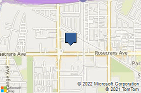 Bing Map of 7625 Rosecrans Ave Ste 5 Paramount, CA 90723