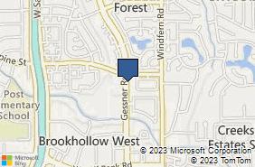 Bing Map of 7674 Gessner Rd Houston, TX 77040
