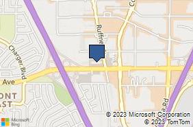 Bing Map of 7710 Balboa Ave Ste 121 San Diego, CA 92111