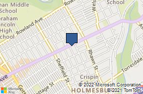 Bing Map of 7805 Frankford Ave Philadelphia, PA 19136