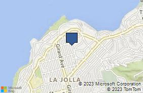 Bing Map of 7858 Ivanhoe Ave La Jolla, CA 92037