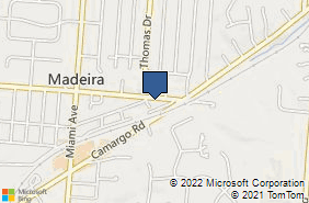 Bing Map of 7907 Euclid Ave Madeira, OH 45243