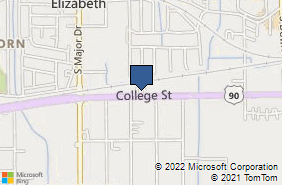 Bing Map of 7920 College St Beaumont, TX 77707