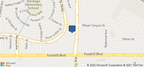 Bing Map of 7950 Cherry Ave Ste 110 Fontana, CA 92336