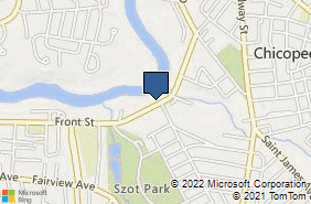 Bing Map of 799 Front St Chicopee, MA 01020