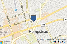Bing Map of 80 Clinton St Ste A Hempstead, NY 11550