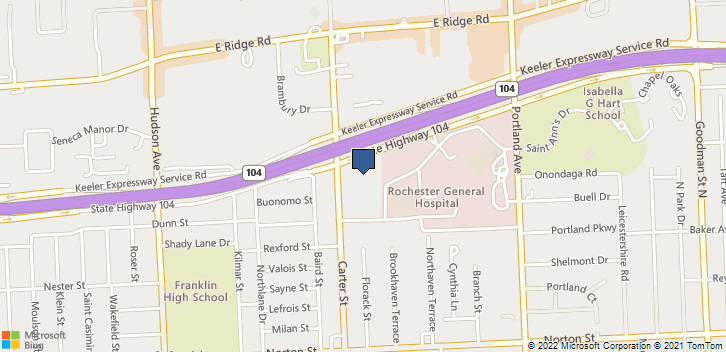 800 Carter St Rochester, NY, 14621 Map