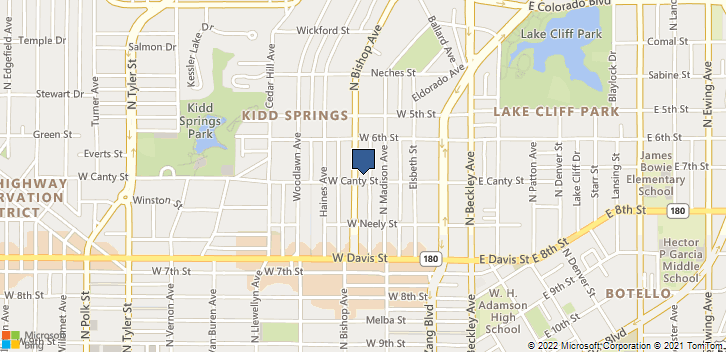 800 N Bishop Ave Dallas, TX, 75208 Map