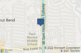 Bing Map of 800 W Sam Houston Pkwy S Ste 212 Houston, TX 77042