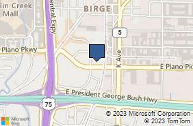 Bing Map of 801 E Plano Pkwy Ste 206 Plano, TX 75074