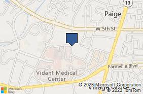 Bing Map of 801a Moye Blvd Greenville, NC 27834