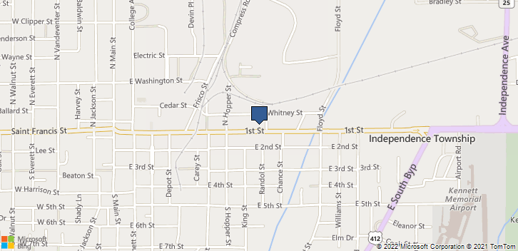 802 1st St Kennett, MO, 63857 Map