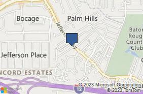 Bing Map of 8054 Jefferson Hwy Baton Rouge, LA 70809