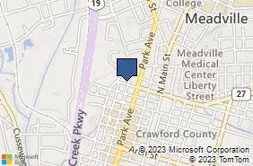 Bing Map of 806 Market St Meadville, PA 16335