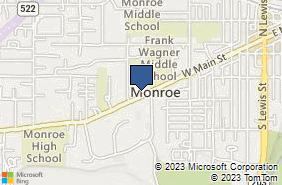 Bing Map of 809 W Main St Ste B Monroe, WA 98272