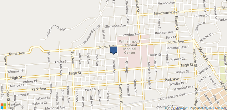 810 Louisa St Williamsport, PA, 17701 Map
