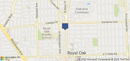 Bing Map of 811 N Main St Ste 104 Royal Oak, MI 48067