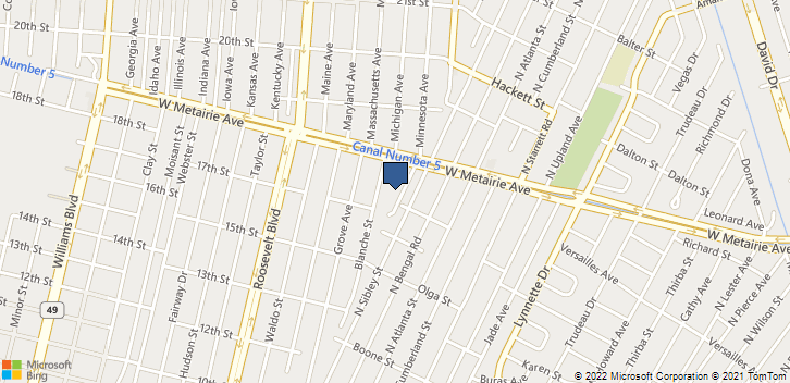 820 New York Ave Metairie, LA, 70003 Map