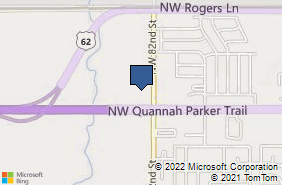 Bing Map of 8209 Nw Quannah Parker Trl Lawton, OK 73505