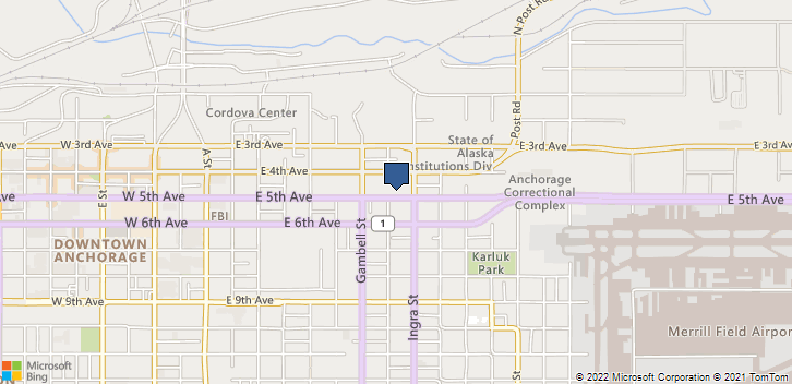 821 E 5th Ave Anchorage, AK, 99501 Map