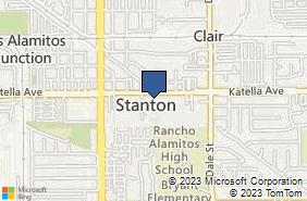 Bing Map of 8220 Katella Ave Ste 204 Stanton, CA 90680