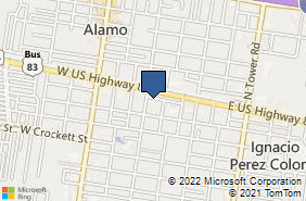 Bing Map of 823 Main St Alamo, TX 78516