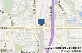 Bing Map of 8280 W Union Hills Dr # 105a Glendale, AZ 85308