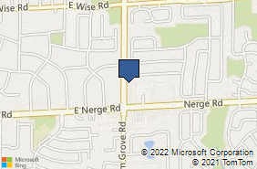 Bing Map of 830 E Nerge Rd Roselle, IL 60172