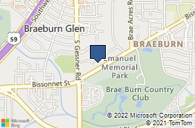 Bing Map of 8300 Bissonnet St Ste 480 Houston, TX 77074