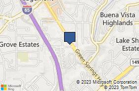 Bing Map of 832 Green Springs Hwy Ste 101b Homewood, AL 35209