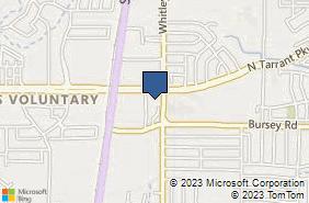 Bing Map of 8321 Whitley Rd Ste 102 Watauga, TX 76148