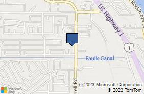 Bing Map of 835 Executive Ln Rockledge, FL 32955