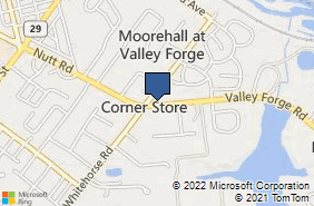 Bing Map of 843 Valley Forge Rd Phoenixville, PA 19460
