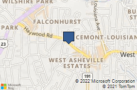 Bing Map of 844 Haywood Rd Asheville, NC 28806