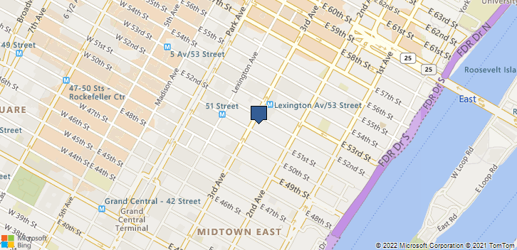845 3rd Ave 6 Fl New York, NY, 10022 Map